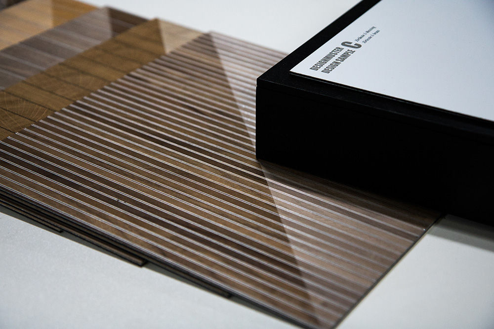 Let yourself be inspired by the possibilities of the sample boxes